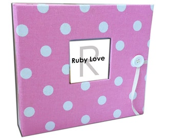 BABY BOOK | Baby Pink Polka Dot Album - Ruby Love Modern Baby Memory Book