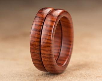 Size 7 - Stacking Mopani Wood Rings No. 127