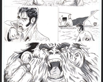 "King Surf- ""Too much Monkey Business"" page 5 original art"