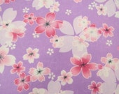 2658B -- Japanese Cherry Blossoms in Lavender, Sakura Fabric, Spring Flower, Flower Fabric