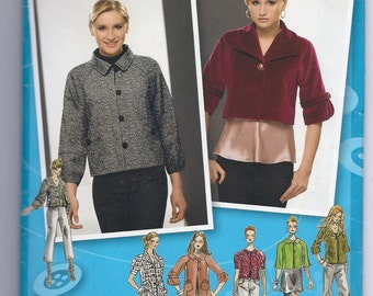 Simplicity 2858 Project Runway Pattern Misses Lined Jacket with Collar and Sleeve Variations, Sizes 4-6-8-10-12