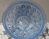 Light Blue diamond cut Bowl dish So Pretty EUC