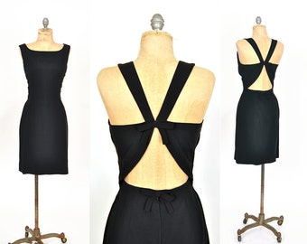 1960s dress / cutout dress  /  Mr Mort 60s dress .. xs