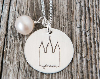 Salt Lake Temple, Temple Forever Necklace, Temple Necklace, Temple, LDS Jewelry, Mormon Charms, LDS Wedding, SLC Temple Necklace
