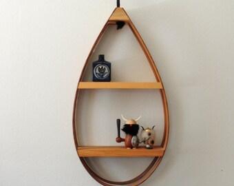 bent wood hanging teardrop shelf