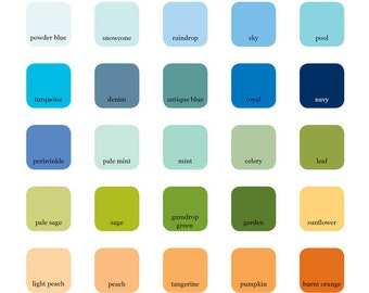 Twine and Color Swatch Options for Idea Chíc Wedding Invitations