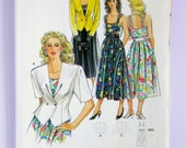 Misses' Sun-dress and Jacket - Burda 5044 - Vintage Uncut Sewing Pattern, Sizes 8, 10, 12, 14, 16, 18