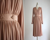 1970s deep pleat dress