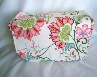 Super Size Coupon Organizer - Budget Holder - Attaches To Your Shopping Cart - Coral Beach Floral