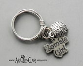 Zombie Girl Ring - Stainless Steel Zombie Ring - Size 8