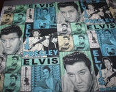 Elvis Fabric VIP by Cranston Photos of Elvis in Greens and Blues FQ and More