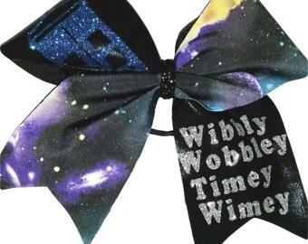 Dr. Who Wibbly Wobbly Timey Wimey Hair Bow