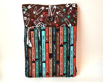 Macbook Air 13 inch Case Pocket, Laptop Bag, Mac Book Sleeve, Sewing Padded Mac Cover, Project Runway Sew Design Notions Crafting Sewing New