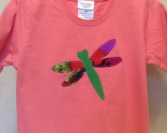 Organic cotton toddler t-shirt designed with a Dragonfly