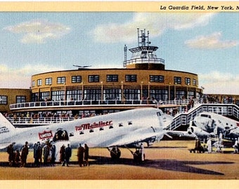 Vintage New York City Postcard - LaGuardia Airport (Unused)