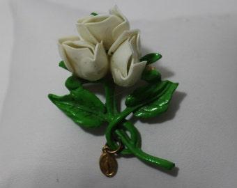 Vintage Rosebud Brooch IM