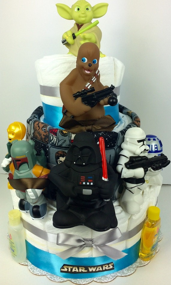 star wars diaper cake star wars baby shower gift star wars bath toys