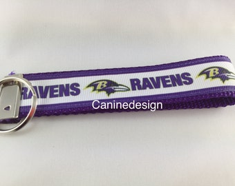 Baltimore Ravens Keychain, Key fob, Wristlet
