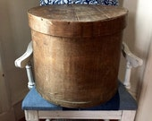Wood Box, Round, Lidded, Antique
