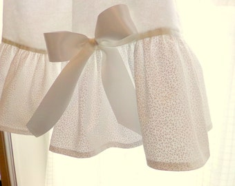 "Girls Nightgown 5,6,7,8,10,12 Custom Orders Taken ""White On White With Bows"" Flannel Or Cotton betrueoriginals"