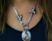 RESERVED  --- They Give Us Life - Dendritic Agate Sterling Silver Necklace