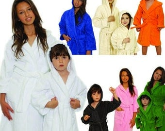 Kids Personalized Terry Hooded Bath Robe Childrens bathrobe
