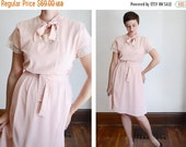 SUMMER CLEARANCE 30s/40s Pink and Lace Dress - S