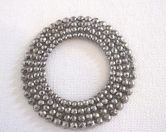 Vintage Cut Steel Embellishment Circle Round