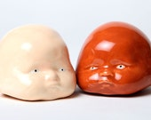 Baby Puddin' Heads Ceramic Salt and Pepper Shakers