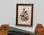 Vintage Dried Flowers Under Glass from Austria - Dry Framed Flowers