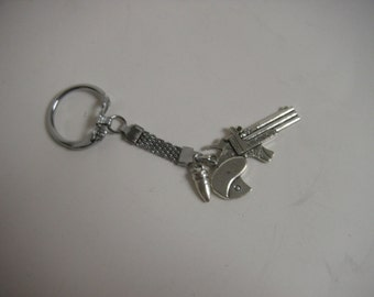 Revolver and bullet key chain for Gun Rights  KC4