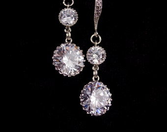 Bridal Earrings Wedding Jewelry Cubic Zirconia Wedding Earrings Marissa