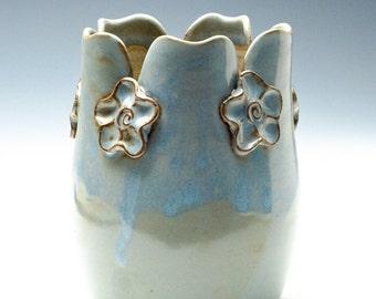 Pale Blue Flower Vase