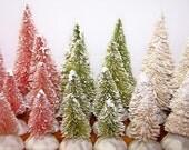 Bottlebrush Trees, Miniature Trees, Dollhouse, Mini, Trees, Pine Trees, Pastel, Free Shipping, 8pc Tree Set, Miniature Village, Forest, Mint