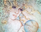 Print Gypsy Goddess by Lynne French CRYSTAL GAZER Gaia