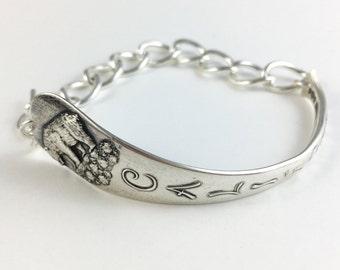 California Bracelet, California Jewelry, Spoon Bracelet, Spoon Jewelry, California Woman, California Spoon, Vintage California, State Seal