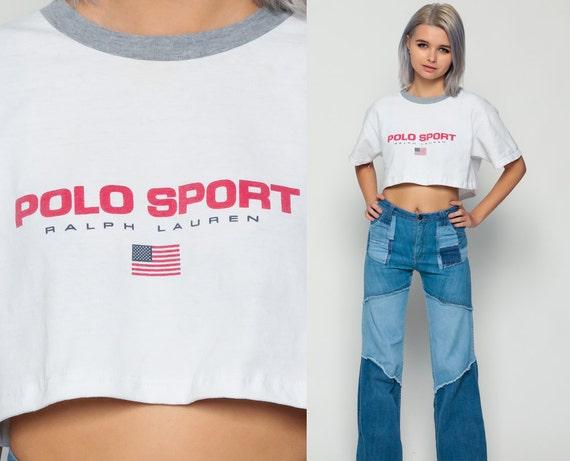 polo sport shirt ralph lauren t shirt crop top american flag. Black Bedroom Furniture Sets. Home Design Ideas