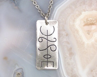 Friendship Viking Rune Necklace - Stainless Steel - Thekkur on Stainless Steel Chain