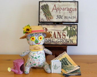 Collector Doll garden glove doll - Gardener's Companion for teens and adults - OUR PEGGY