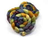 Organic Polwarth Wool/ Silk Roving (80/20) (Combed Top) - Hand Dyed Roving for Spinning or Felting
