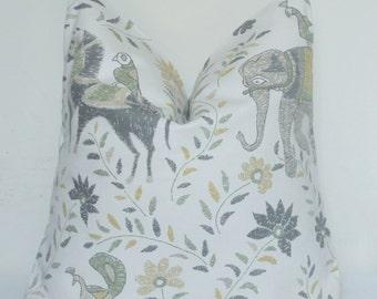 Elephant Pillow Cover, Donkey Pillow Cover,  Ethnic Pillow, Designer Pillow, Decorative Pillow, Throw Pillow, Home Furnishing, Home Decor