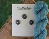 RESERVED Listing- 3 Black Walnut Wood Buttons- Handmade Wooden Buttons- Eco Knitting Supplies, Eco Craft Supplies