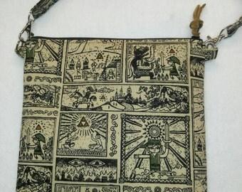 Legend of Zelda cross body, messenger bag, handmade