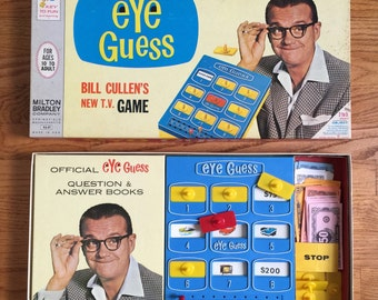 Vintage 1960s Milton Bradley Eye Guess Game Complete / Based on the Bill Cullen's Popular TV Game - Trivia Question Answer / 2 to 5 Players
