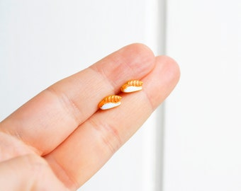 Sushi earrings - handmade salmon sushi niguiri miniature stud earrings kawaii hipster trendy miniature Japanese food