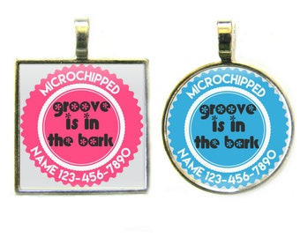 Groove is in the Bark Personalized Dog ID Pet Tag Custom Pet Tag You Choose Tag Size & Colors, Available in 11 Colors