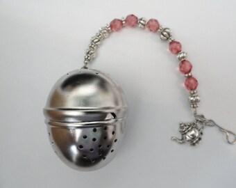 Tea Infuser with beaded handle