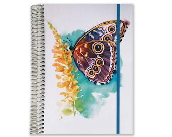 Custom Day Planner Organizer | 2017-2018 Planner | Aquila Watercolor | Daily Schedule Planner | Day Organizer