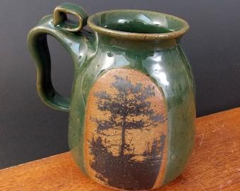 Stoneware  Mug  ~ Island Tree Design ~
