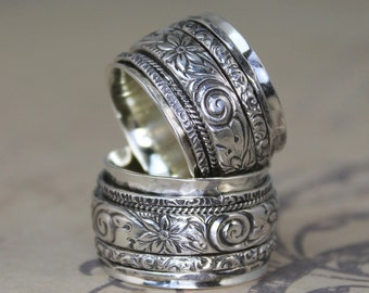 Midget Gypsy Spinner Ring ALL STERLING BANDS